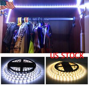 Smart-PIR-Motion-Sensor-LED-Strip-Light-Flexible-Lamp-Closet-Stairs-Home-Cabinet