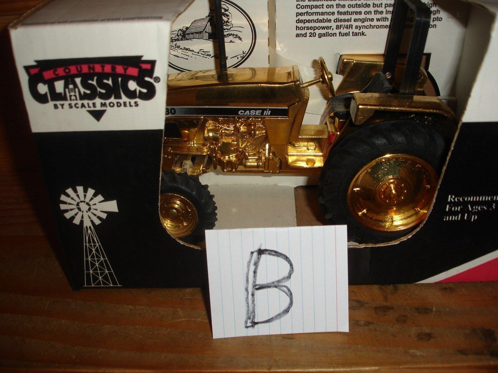 1 16 CASE IH 4230 plaqué or jouet tracteur