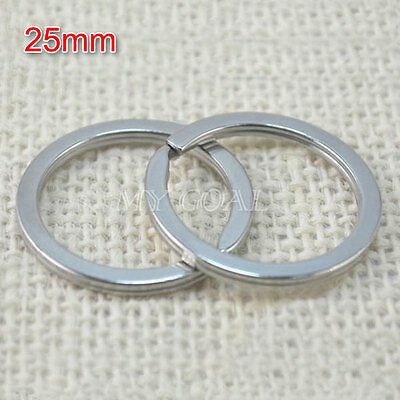 20PCS 20/25/30/35mm Metal Split Key Rings Keyring Keychain Keyfob