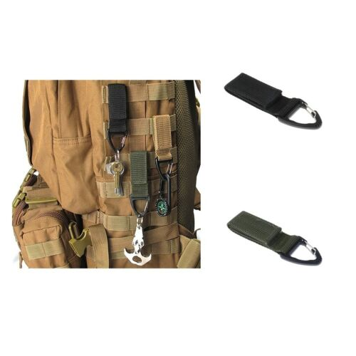 2x Molle Tactical Backpack Military Attachment Nylon Webbing Hanging Buckle