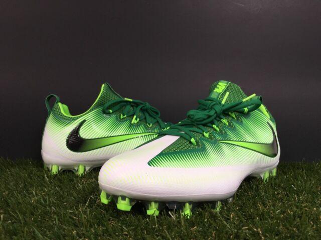 33354eeeb Nike Vapor Untouchable Pro Size 11.5 Football Cleats Pine Green White 833385 -301