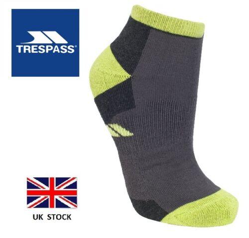 NUOVO Trespass Da Uomo Incline Trainer Socks-Palestra//Escursionismo//Running//Sport//RIVESTIMENTO//Caviglia