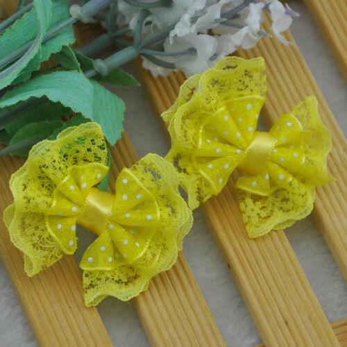 Arcos de la cinta de ajuste de 20 Piezas de flores con apliques de Diamantes de Imitación Boda Decoración F88