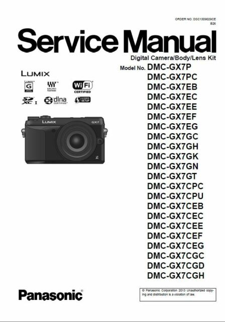 panasonic lumix dmc gx7 gx7k gx7c service manual repair guide ebay rh ebay com panasonic lumix manual dmc-zs40 panasonic lumix manual download