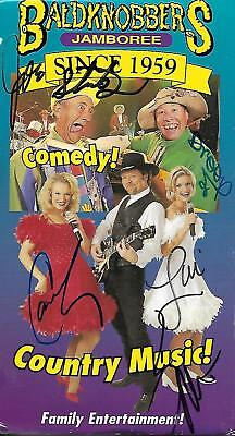 "Autographs-original Forceful ""baldknobbers Jamboree""...since 1959...comedy & Country Music.....souvenir Video High Quality And Inexpensive Theater"