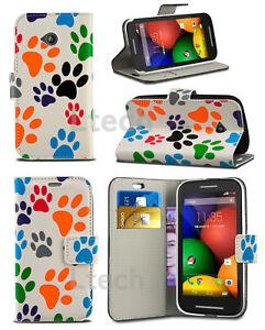 buy popular 92117 5d3c7 Details about Motorola Moto E5 Play (From Argos) 2018 - Printed Wallet Case  ANIMAL PAW PRINT