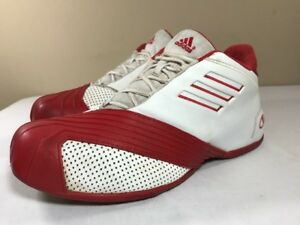 9a377a7c0c4f 2005 Adidas TMac 1 Red White Basketball Shoes Men 12 Tracy Mcgrady T ...