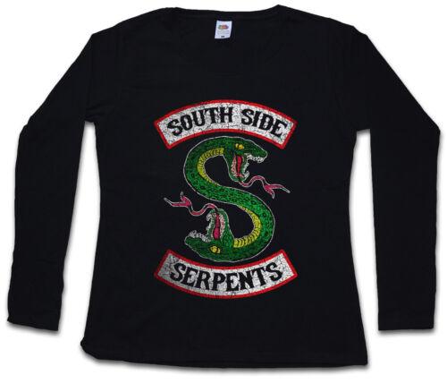 South Side Serpents Damen Langarm T-Shirt Archie Snake Biker Riverdale Schlangen