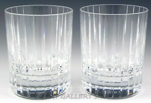 Baccarat-France-HARMONIE-4-1-8-034-DOUBLE-OLD-FASHIONED-GLASSES-Set-of-2-Mint