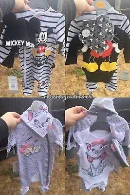 Brand New Primark Disney Starter 4 Piece Sets Mickey Mouse Or Marie Aristocats