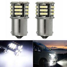 2x Canbus No Error White LED Tail Backup Reverse Light Bulb BA15S 1156 7506 P21W