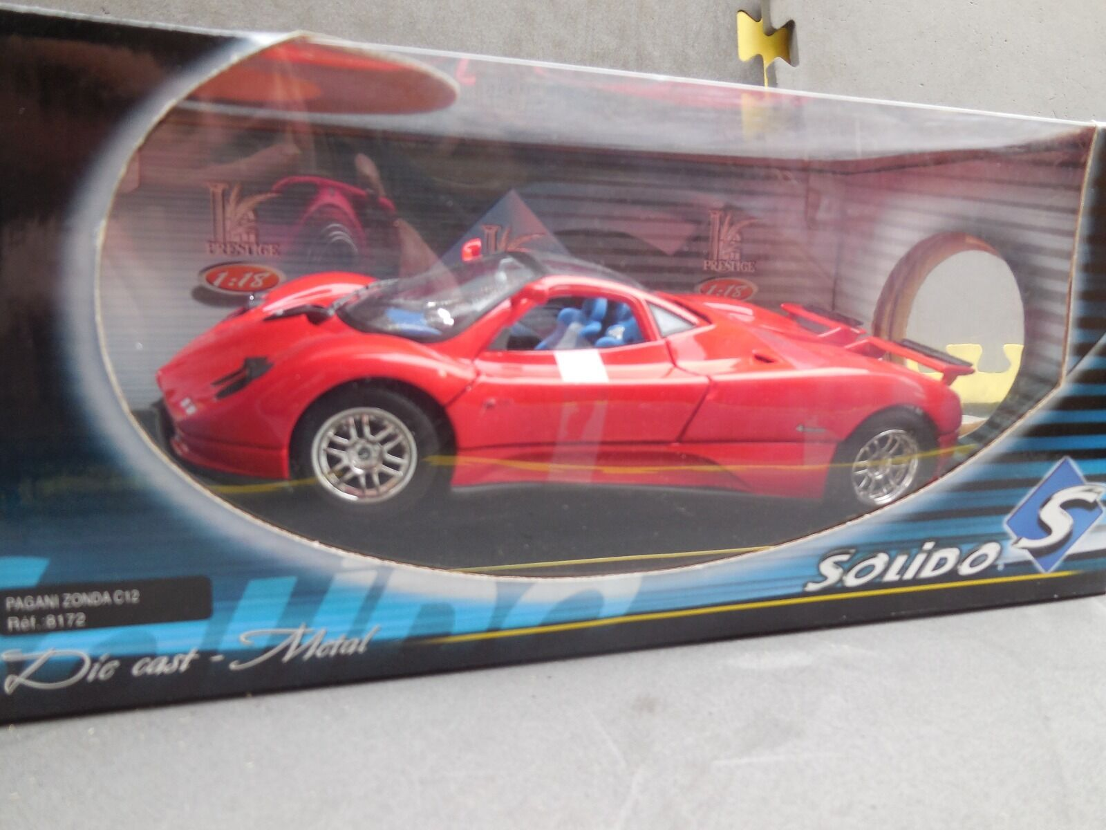 SOLIDO 1 18 Pagani Zonda C12 Die-Cast Collectors Model Car REF 8172