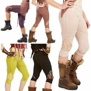best loved 32cd2 4dad7 Details zu Psy Trance Leggings, Organic Cotton Clothing, Boho Hippy  Festival Pixie Leggins