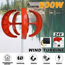 800w Wind Turbine Generator Unit Dc 24v Charger Controller Home Power Energy Usa