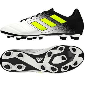 ba09efad2 Adidas Men s ACE 17.4 FxG Soccer White Yellow S77090 Sz 8 - 11