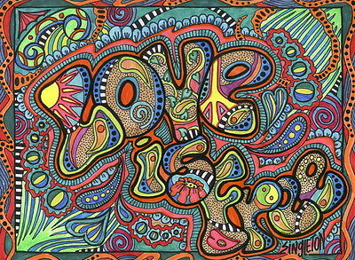 "QT00313 Psychedelic Trippy - Visual Mind Manifesting Art 19""x14"" Poster"