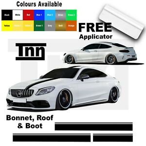 Racing-Stripe-Decal-Stickers-For-Mercedes-Benz-AMG-Edition-1-C63-Coupe-W205-C200