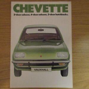 VAUXHALL CHEVETTE SALOON//HATCHBACK CAR SALES BROCHURE May 1976