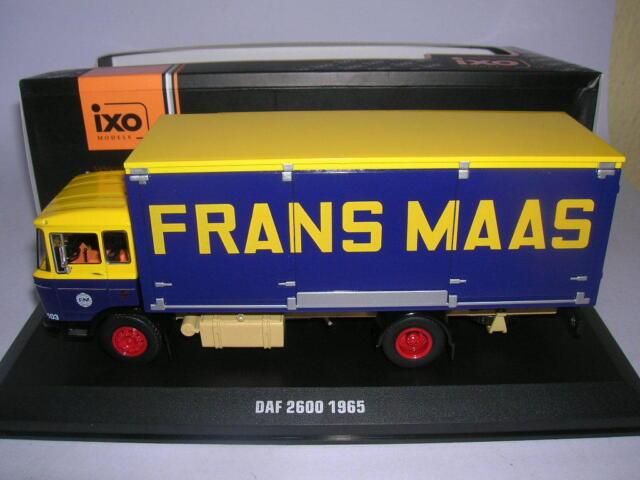 Ixo DAF 2600 Frans Maas Bj. 1965 LKW Transporter Truck Camion, 1:43 TRU020