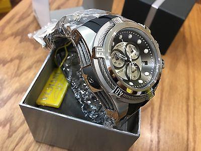 21814 Invicta Reserve 52mm Bolt Zeus Swiss Quartz Chronograph Black Strap Watch