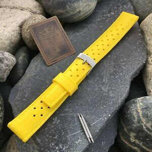 18mm-Skin-Diver-nos-1960s-Vintage-Watch-Band-Yellow-Dive-Watch-Diver-Strap