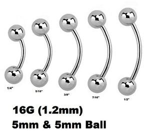 "7//16/"" Double Gems Ball 316L Surgical Steel Navel Ring 14GA~3//8/"" 1pc"
