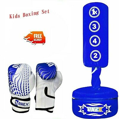 Kids Boxing Punch Bag Children Punching Bag Set Fitness Gift Pack Boys Training