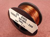 21 Awg...enamel Magnet Wire.....200c 1 Lb..21 Ga..essex...free Shipping