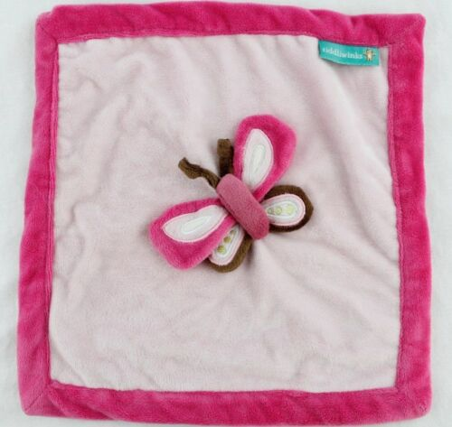 TIDDLIWINKS Pink Butterfly Lovey Security Blanket