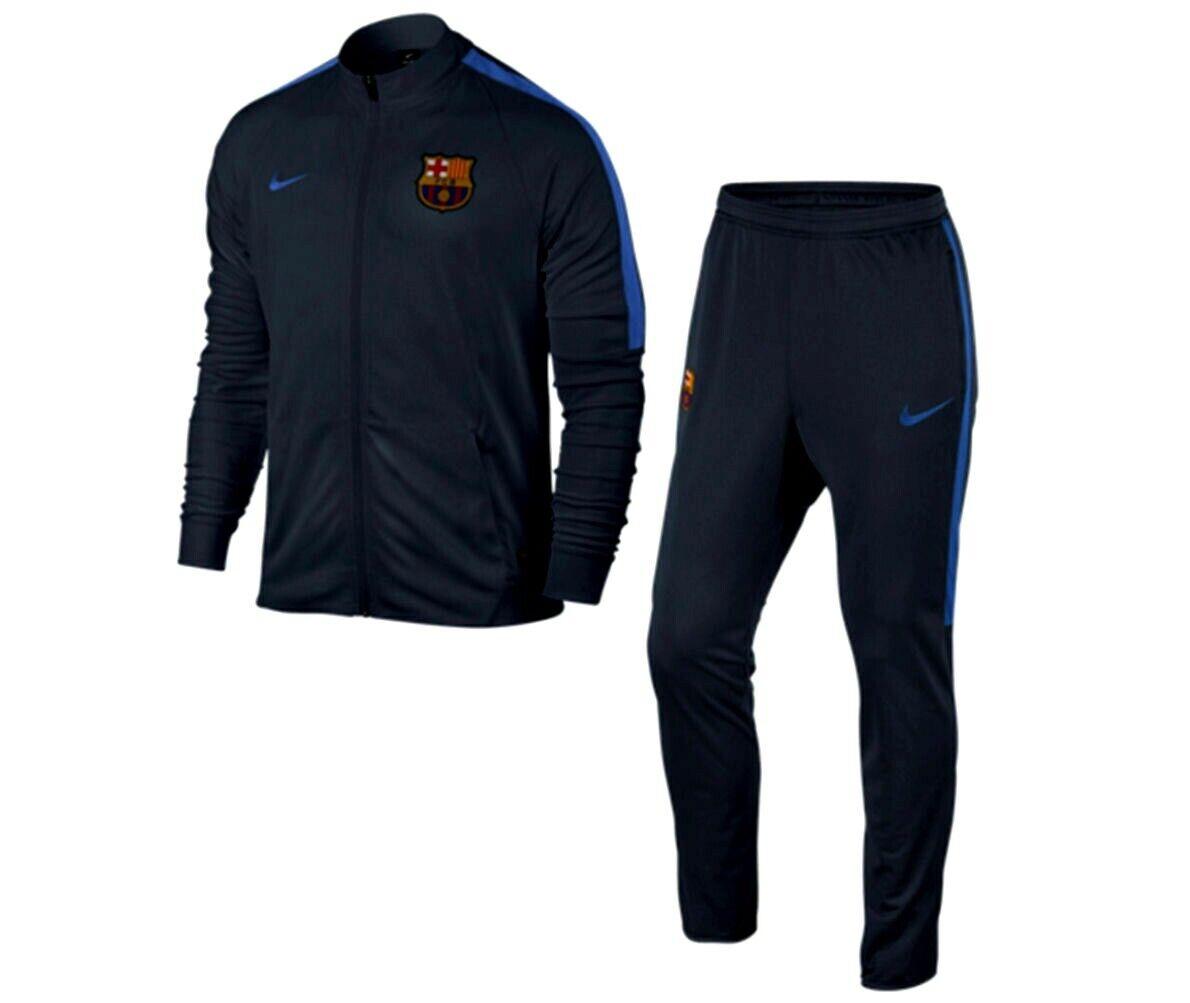 Nike FC Barcelona Equipo Youth Chándal Tejido Tejido Tejido Obsidian   Royal 6bc30c