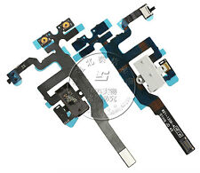 FOR iPhone 4S 4GS Black Headphone Audio Jack Flex Original Cable Volume/Mute