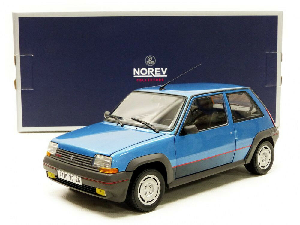 Norev 1986 Renault 5 GT Turbo SuperCinq azul Metallic 1 18 Scale. Hard to find
