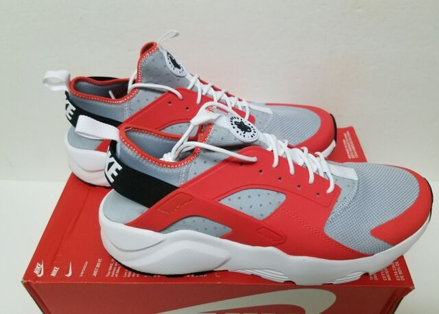 3bb32f3974c70 NEW Nike Air Huarache Run Ultra SIZE 10 MAX ORANGE BLACK GREY WHITE 819685- 800