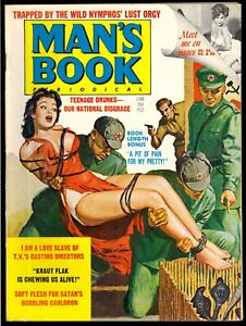 Man-039-s-Book-Pulp-Magazine-Vol-7-3-June-1968-Bondage-Fine-6-0