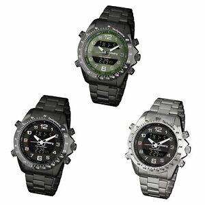 INFANTRY-Aviator-Military-Army-Quartz-Sport-Stainless-Steel-Mens-Wrist-Watches