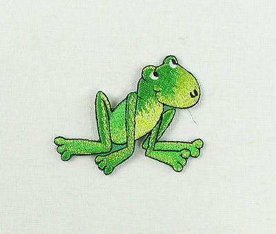 Frog   Embroidered Iron On Sew On Patch