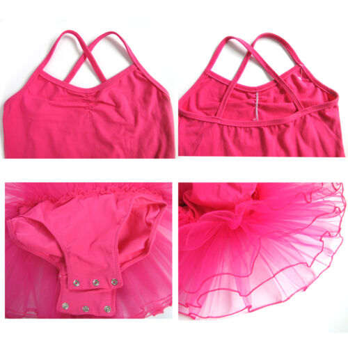 NEW Girls Pink Ballet Dress//Tutu Leotard Dance Gymnastics Fancy Fairy 2~10 Year
