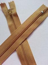 * Lace Market * Gold Closed End Zip Zipper 36 cm 14 Inch