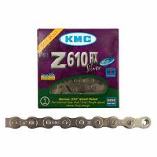 "KMC Z610HX-112L Neo Chrome CHAIN 1SP 3//32"" Z610HX OIL SLICK W//HALF LIN... OL"