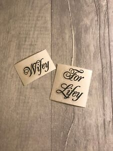 """1/""""x2/"""" Wifey for Lifey bride wedding shoe decal removable novelty sticker"""