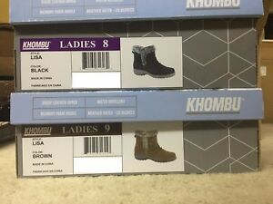 Khombu-Lisa-Ladies-Brown-or-Black-Size-8-and-9-Weather-Boots