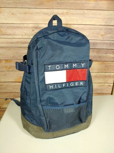 Rare Vintage TOMMY HILFIGER Spell Out Flag Patch B