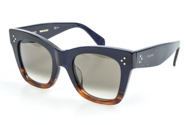 Celine Catherine Small Asian Fit CL41098F/S blue havana frame sunglasses $410