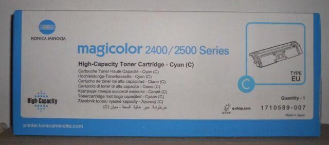 Original Konica Minolta 1710589-007 Toner HC cyan für magicolor 2400 2500  OVP B