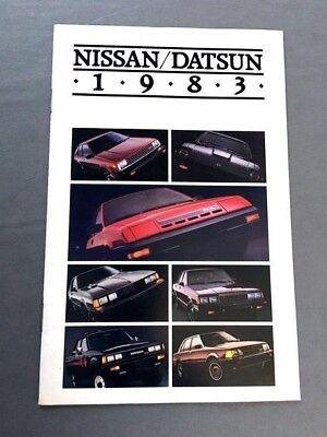 Truck Stanza Pulsar 280-ZX Maxima 1983 Nissan Datsun 16-page Sales Brochure