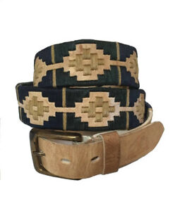 034-Merlo-034-100-Argentine-Embroidered-Rawhide-Leather-Polo-Belt-The-Best-Quality
