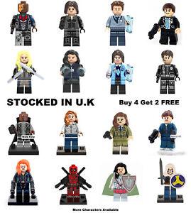 Marvel Avengers Custom Lego Superhero Mini Figures Minifigure Deadpool 10pc SET