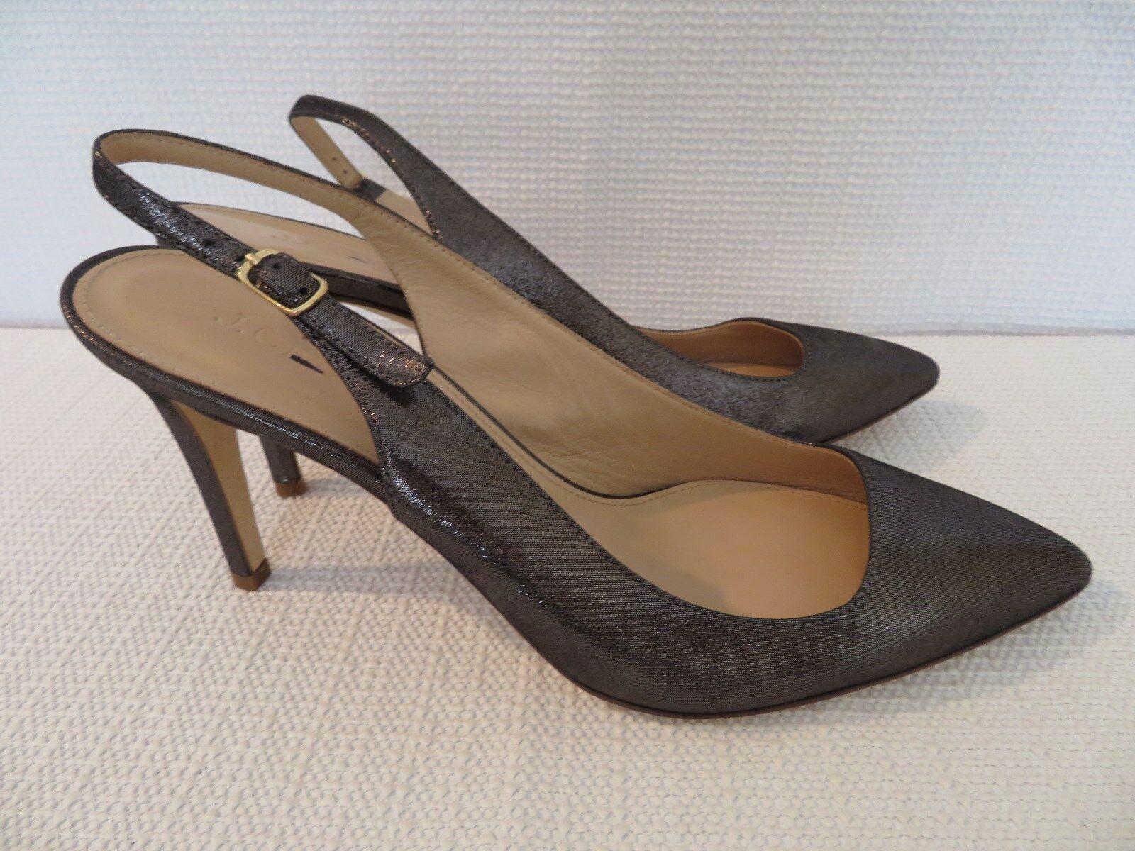 Nouveau J. J. J. CREW Métallique Daim Bride Arrière Escarpins, A1463, métallique, Taille 7.5 6e4beb