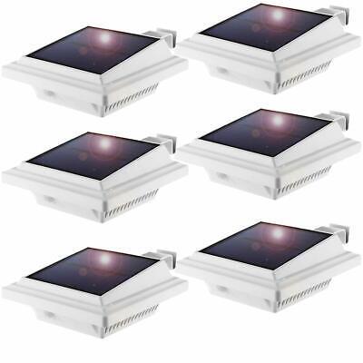 8er Pack Solar Garten Wandleuchte Dachrinnenleuchte 6LEDs Leuchte Kaltweiß
