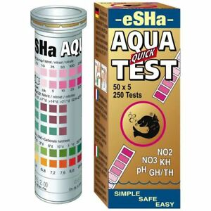 Esha Aqua Quick Test 50 Test Strips C12 No2 No3 Ph Kh Gh/th Aquarium Test Kit To Assure Years Of Trouble-Free Service Fish & Aquariums Water Tests & Treatment